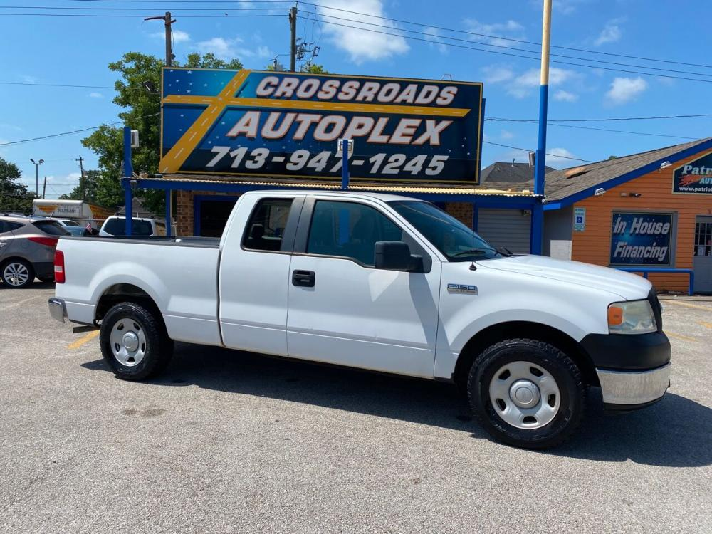 2007 WHITE /Gray FORD F-150 Lariat 4dr SuperCab Styleside 5.5 ft. SB (1FTPX12VX7K) with an 5.4L V8 engine, Automatic 4 speed transmission, located at 310 Spencer Hwy, South Houston, TX, 77587, (713) 947-1245, 29.664383, -95.228897 - Photo #0