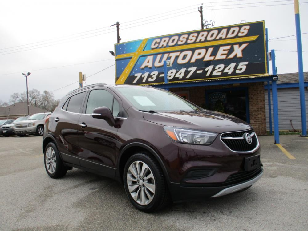 2018 MAROON BUICK ENCORE Preferred FWD (KL4CJASB9JB) with an 1.4L L4 DOHC 16V TURBO engine, 6-SPEED AUTOMATIC transmission, located at 310 Spencer Hwy, South Houston, TX, 77587, (713) 947-1245, 29.664383, -95.228897 - Photo #0