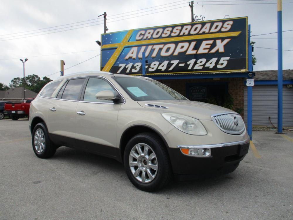 2011 BEIGE BUICK ENCLAVE CXL-1 FWD (5GAKRBED0BJ) with an 3.6L V6 DOHC 24V engine, 6-SPEED AUTOMATIC OVERDRIVE transmission, located at 310 Spencer Hwy, South Houston, TX, 77587, (713) 947-1245, 29.664383, -95.228897 - Photo #0