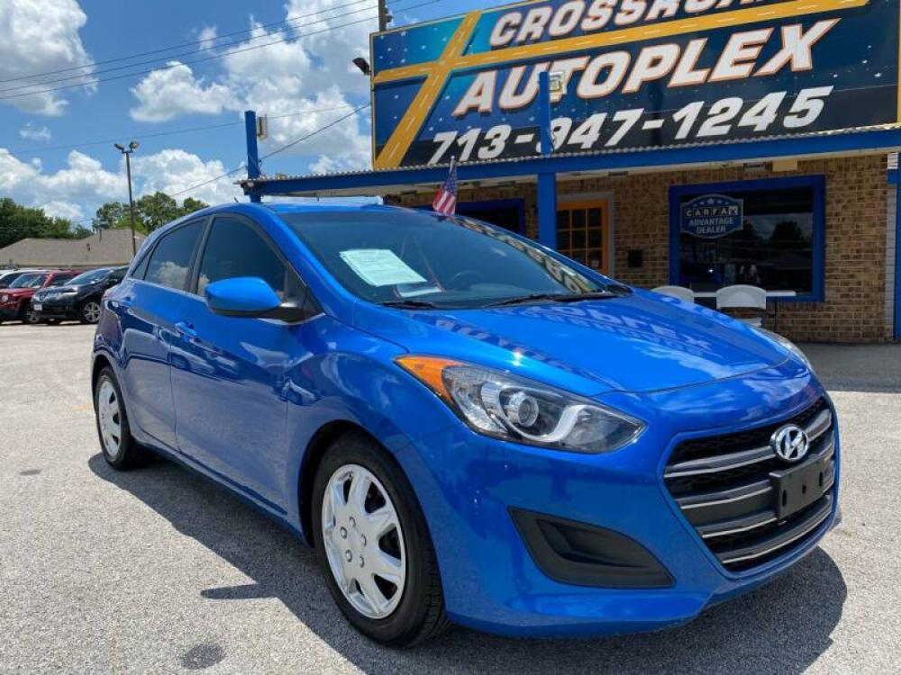 2017 BLUE HYUNDAI ELANTRA GT A/T (KMHD35LH3HU) with an 2.0L L4 16V DOHC engine, 6-SPEED AUTOMATIC transmission, located at 310 Spencer Hwy, South Houston, TX, 77587, (713) 947-1245, 29.664383, -95.228897 - Photo #0